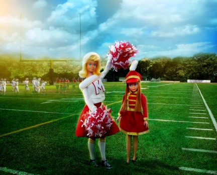 cheer leader and majorette