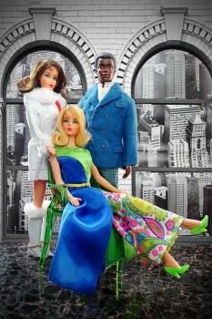 vintage barbie diorama